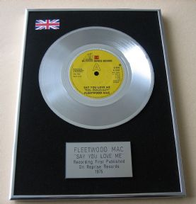 FLEETWOOD MAC - SAY YOU LOVE ME PLATINUM Single Presentation Disc